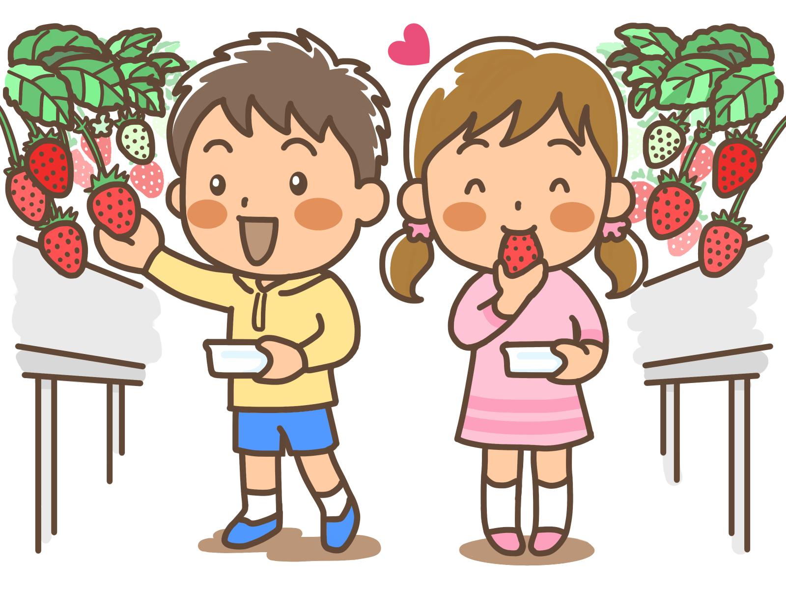 無料苺いちごのかわいいイラスト かわいい無料イラストイラスト
