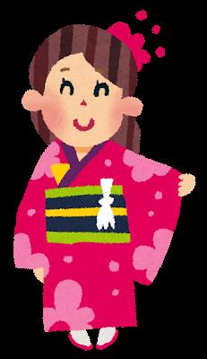 無料着物和服のイラスト かわいい無料イラストイラストの描き方