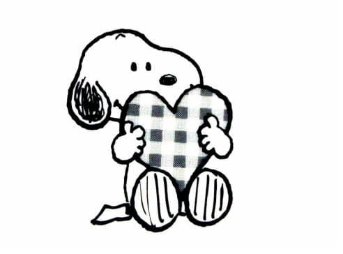 【無料】スヌーピーのかわいいイラスト・簡単手書きの描き方・白黒イラスト