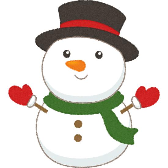 無料 フリー 雪だるまのかわいいイラスト かわいい無料イラスト イラストの描き方