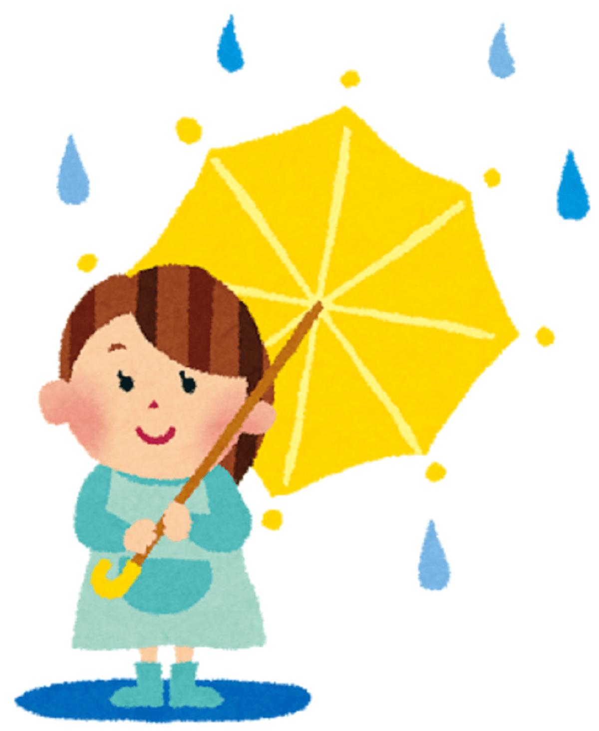 無料フリー傘のかわいいイラストおしゃれな傘イラスト傘を持つ