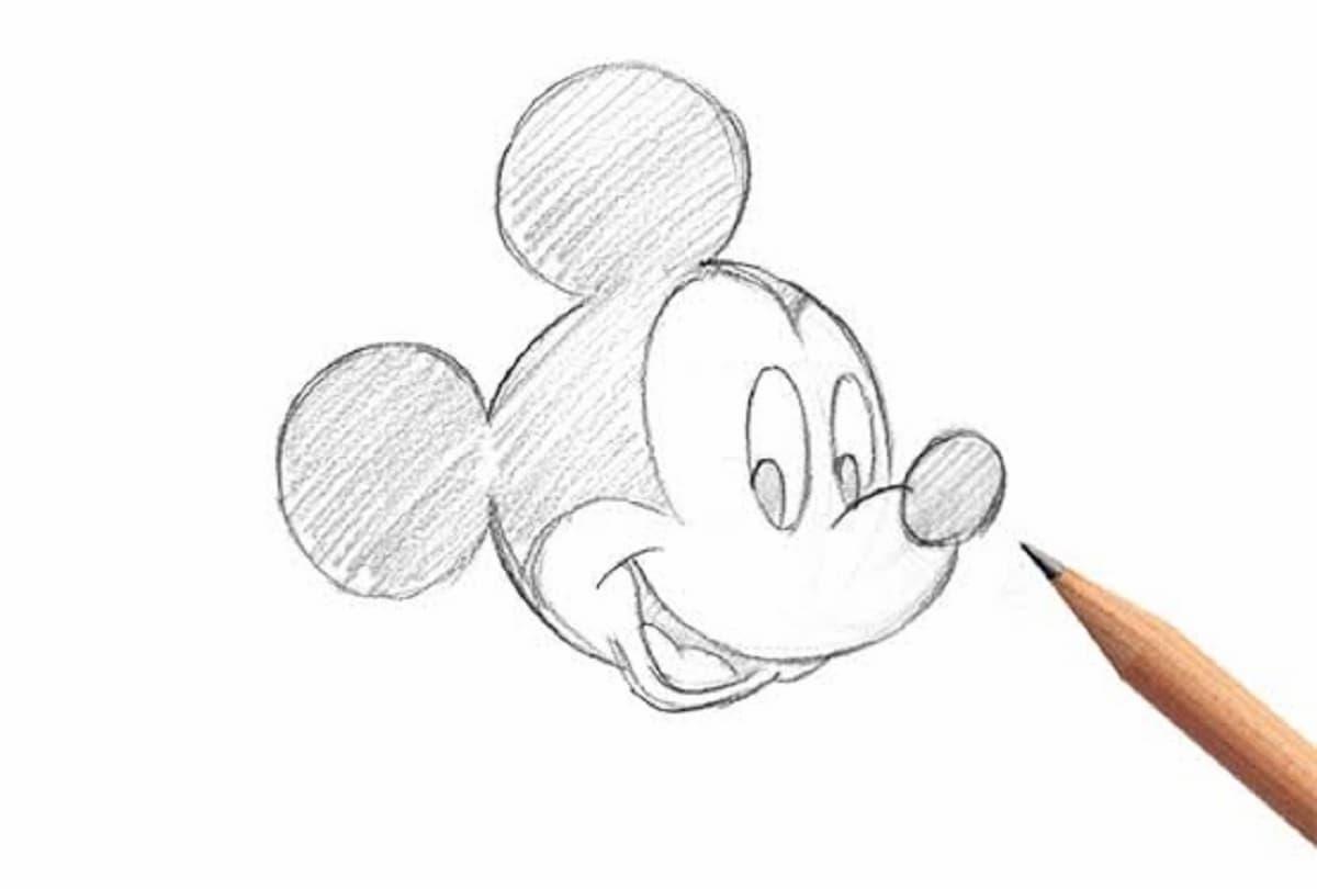 無料 ミッキーマウス ミニーマウスのかわいいイラスト 簡単な手書きでの描き方 かわいい無料イラスト イラストの描き方