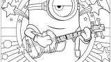 ミニオンの可愛い・白黒イラスト/画像・手書きで簡単に描く方法